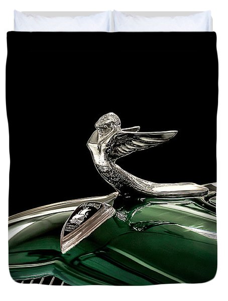 1933 Plymouth Mascot Duvet Cover