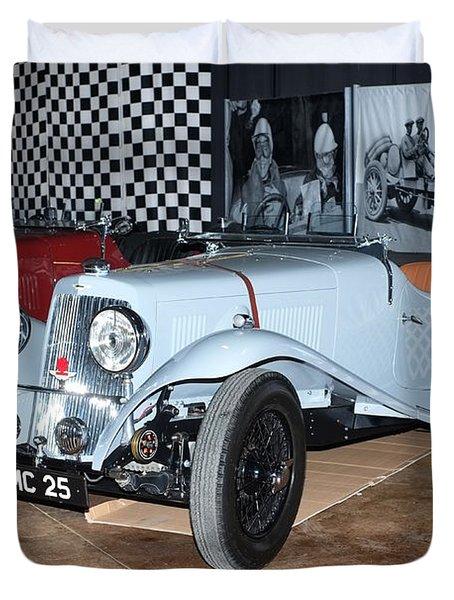 Duvet Cover featuring the photograph 1934 Aston Martin 1.5 Liter Mk. II by Boris Mordukhayev