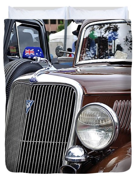 1934 Ford 6 Wheel Equip Front End Duvet Cover by Kaye Menner