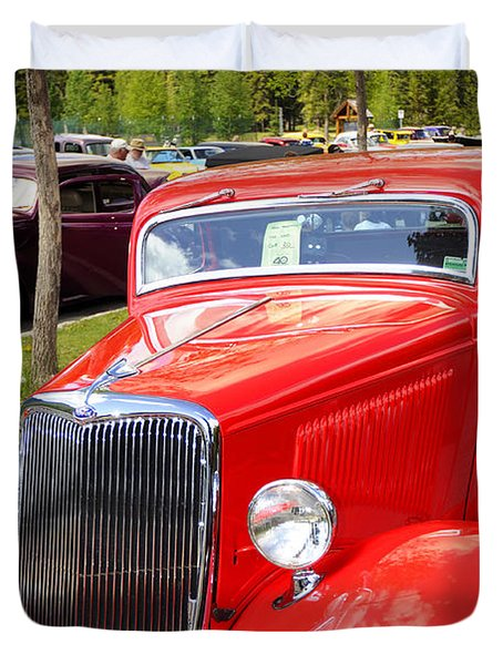 1934 Ford Classic Car Duvet Cover