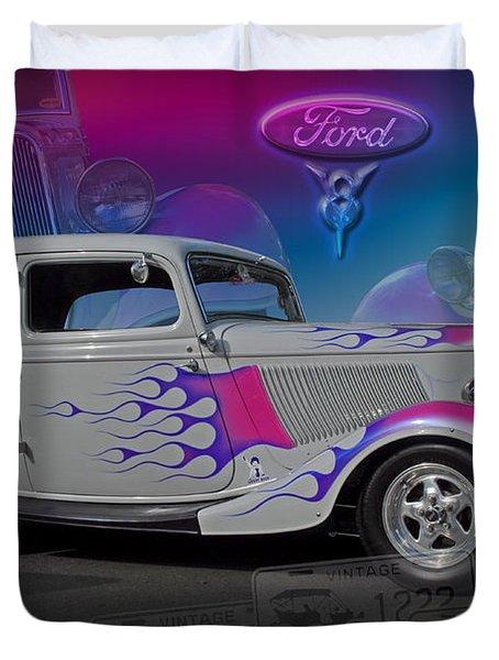 1934 Ford Delux Duvet Cover