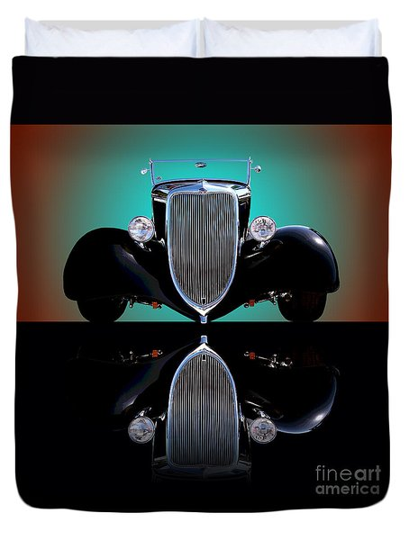 1934 Ford Phaeton Convertible Duvet Cover