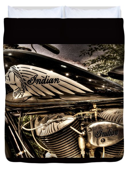 1934 Indian Chief Duvet Cover