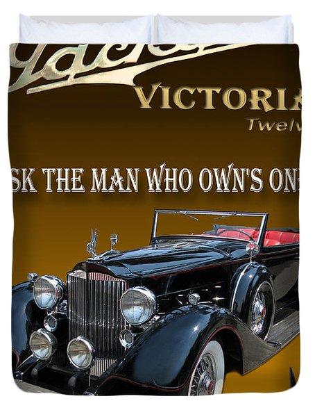 1934 Packard Duvet Cover by Jack Pumphrey