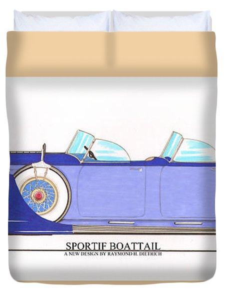 1934 Packard Sportif Boattail Concept By Dietrich Duvet Cover by Jack Pumphrey