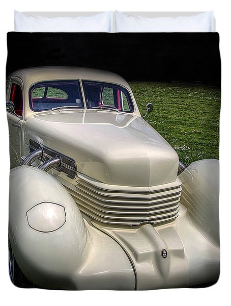 Duvet Cover featuring the photograph 1936 Cord Automobile by Thom Zehrfeld
