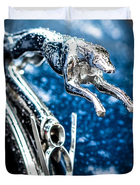 1936 Ford V8 Greyhound Hood Ornament  Duvet Cover