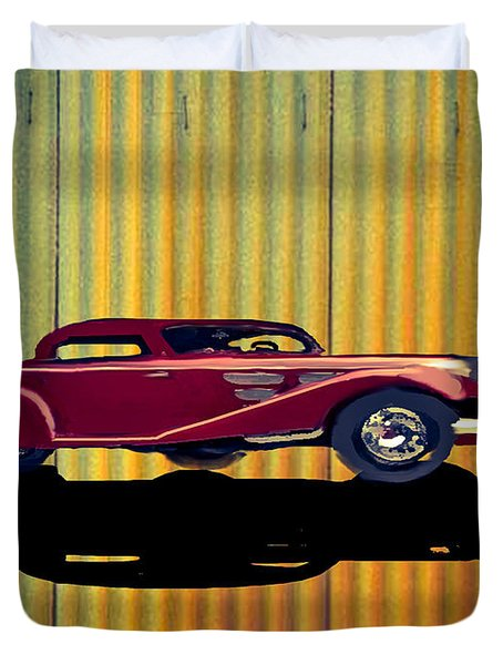 1936 Mercedes Benz Classic Car Duvet Cover
