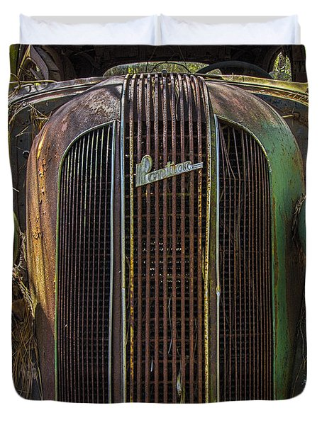1936 Pontiac Head On Duvet Cover