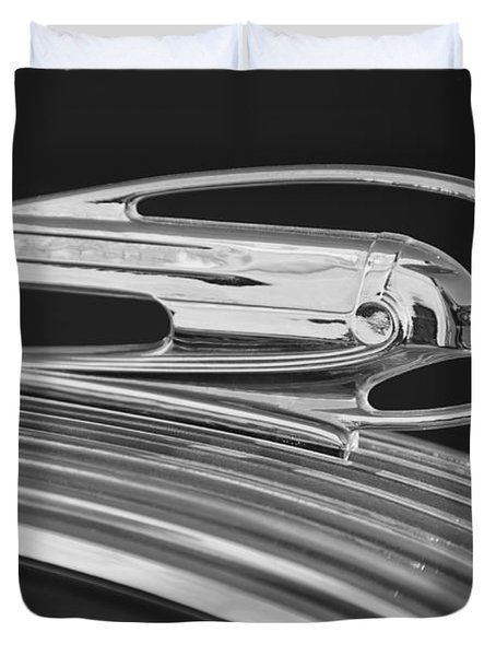 1936 Pontiac Hood Ornament 5 Duvet Cover by Jill Reger