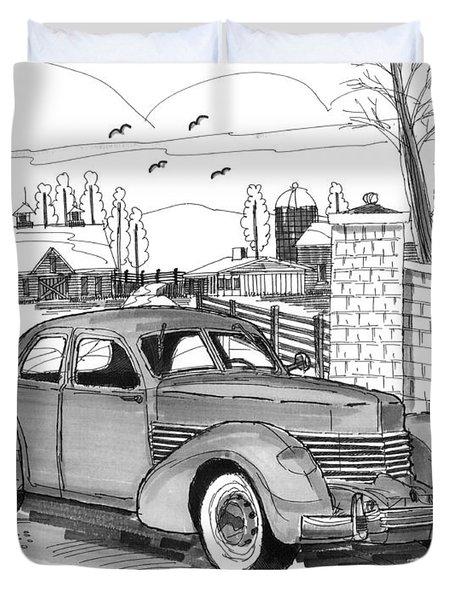 1937 Cord 812 Duvet Cover