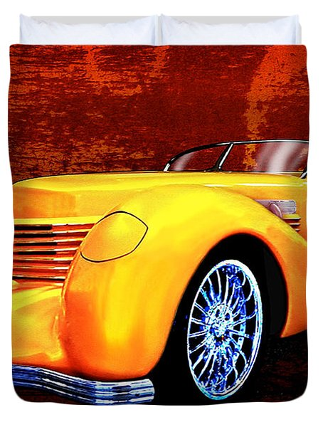 1937 Cord Coffin Nose Speedster Concours On Toast Duvet Cover