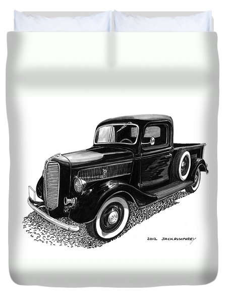 Ford Pick Up Truck Duvet Cover by Jack Pumphrey
