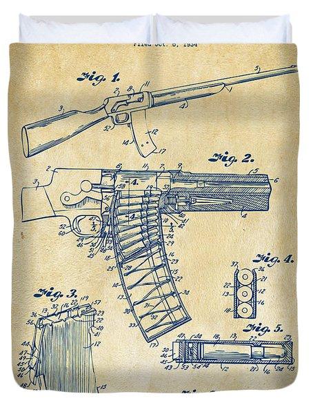 1937 Police Remington Model 8 Magazine Patent Artwork - Vintage Duvet Cover by Nikki Marie Smith