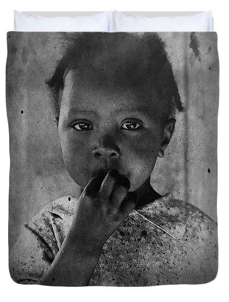 1937 Portrait Child Of Tenant Farmer Duvet Cover