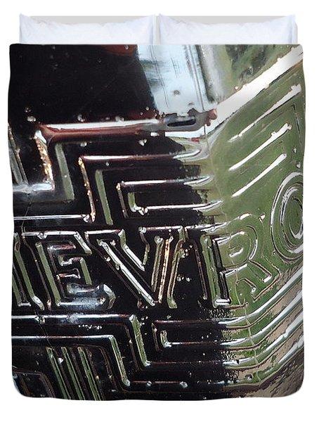 1938 Chevrolet Sedan Emblem Duvet Cover