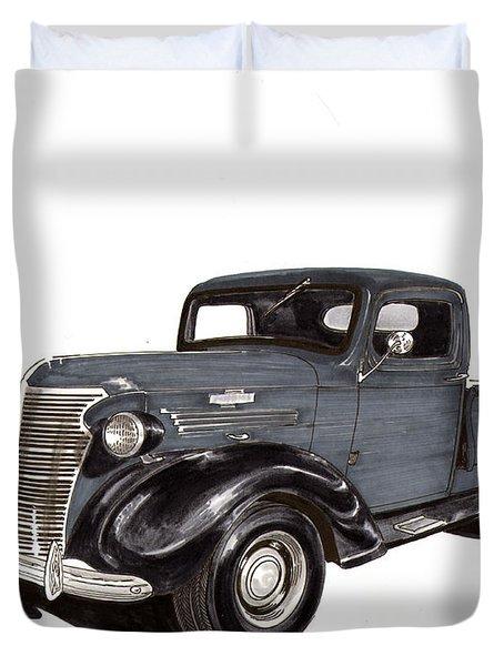 1938 Chevy Pickup Duvet Cover