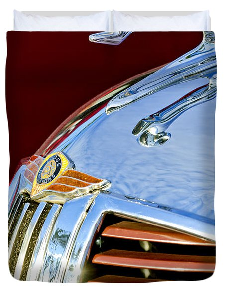 1938 Dodge Ram Hood Ornament 3 Duvet Cover