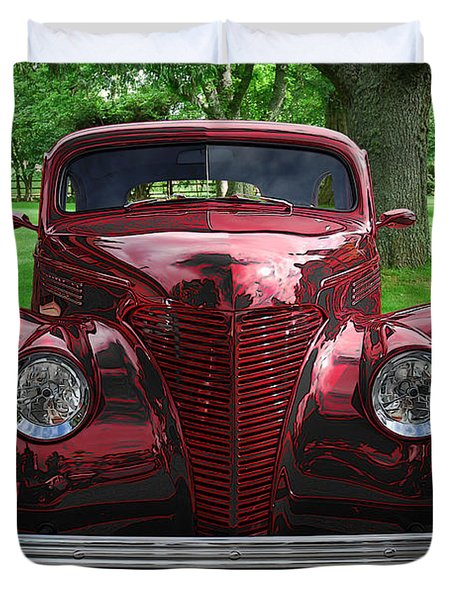 1938 Ford Coupe Duvet Cover