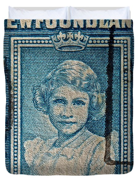 1938 Queen Elizabeth II Newfoundland Stamp Duvet Cover