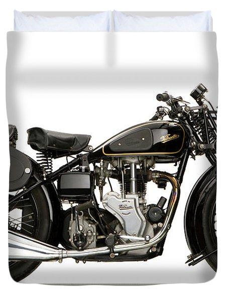 1938 Velocette Mac 350 Motorcycle Duvet Cover