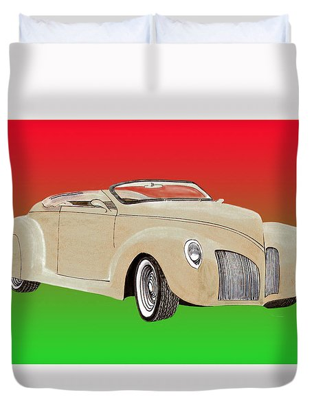 1939 Lincoln Zephyr Speedster Duvet Cover by Jack Pumphrey