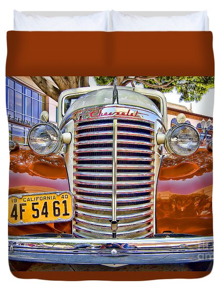 1940 Chevy Sedan Duvet Cover by Jason Abando