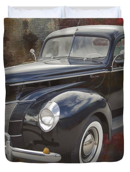 1940 Ford Deluxe Photograph Of Classic Car Painting In Color 319 Duvet Cover