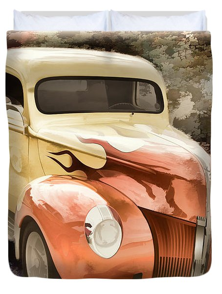 1940 Ford Pickup Truck Painting Car Or Automobile In Color  3133 Duvet Cover