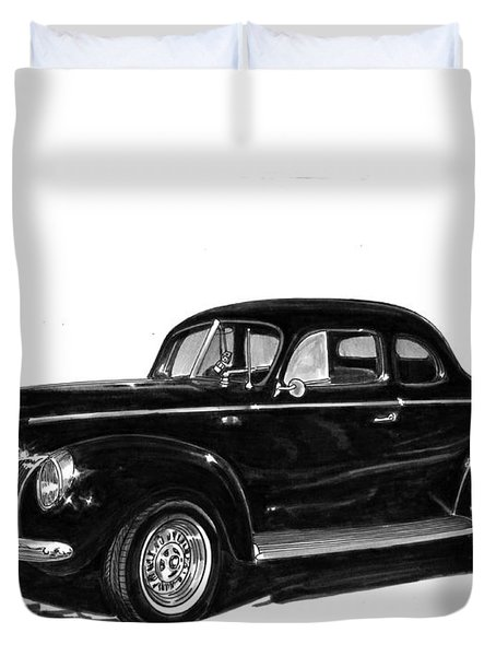 1940 Ford Restro Rod Duvet Cover