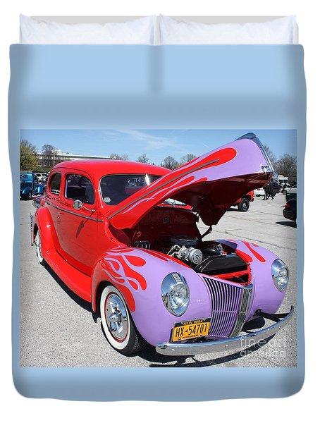 1940 Ford Two Door Sedan Hot Rod Duvet Cover