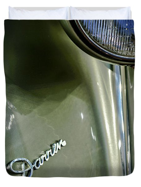 1940 Packard Super Eight One-eighty Darrin Convertible Sedan Headlight Emblem Duvet Cover by Jill Reger