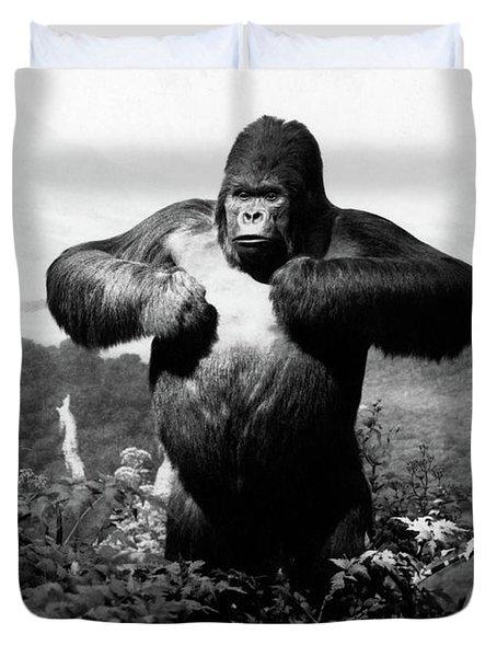 1940s Stuffed Gorilla Gorilla Gorilla Duvet Cover