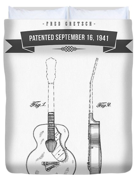 1941 Guitar Patent Drawing Duvet Cover