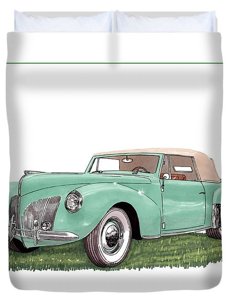 1941 Lincoln V-12 Continental Duvet Cover by Jack Pumphrey