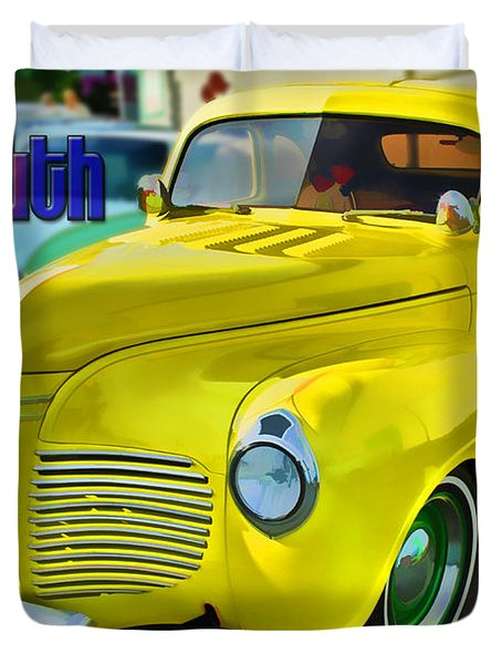 1941 Plymouth Duvet Cover