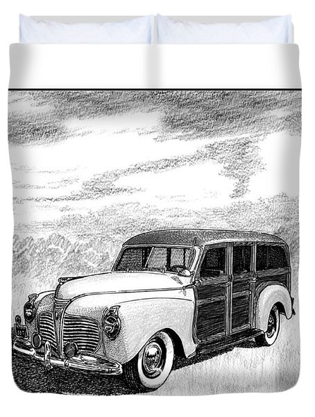 1941 Plymouth Woody Duvet Cover by Jack Pumphrey