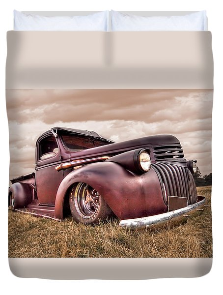 1941 Rusty Chevrolet Duvet Cover