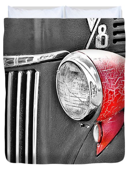 1944 Ford Pickup - Headlight - Sc Duvet Cover by Mary Carol Story