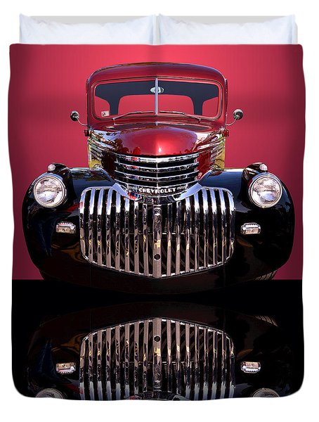 1946 Chevy Panel Truck Duvet Cover