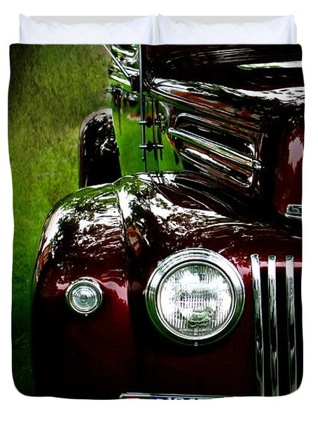 1947 Ford Duvet Cover by Amanda Struz