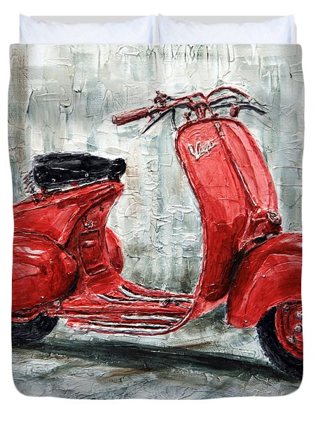 1947 Vespa 98 Scooter Duvet Cover