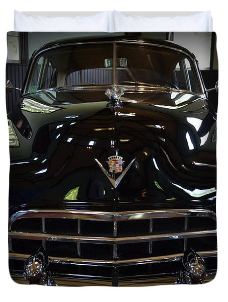 1948 Cadillac Front Duvet Cover by Michelle Calkins
