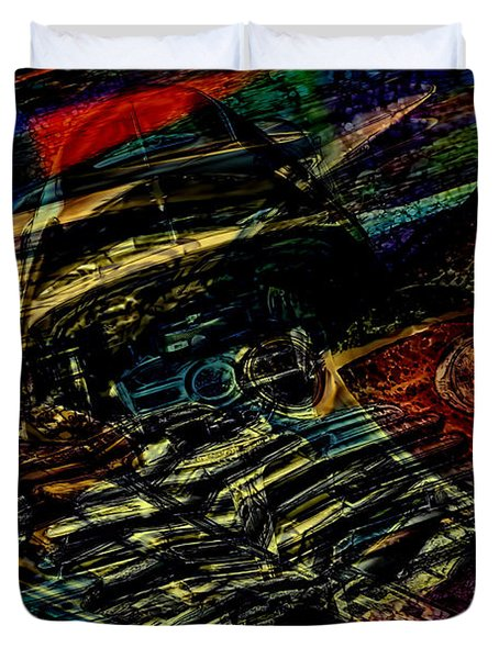 1948 Chevy Abstract Art Duvet Cover