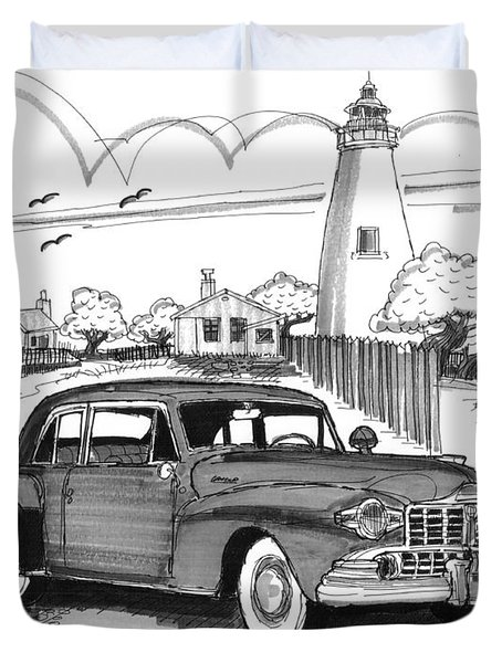 1948 Lincoln Continental Duvet Cover
