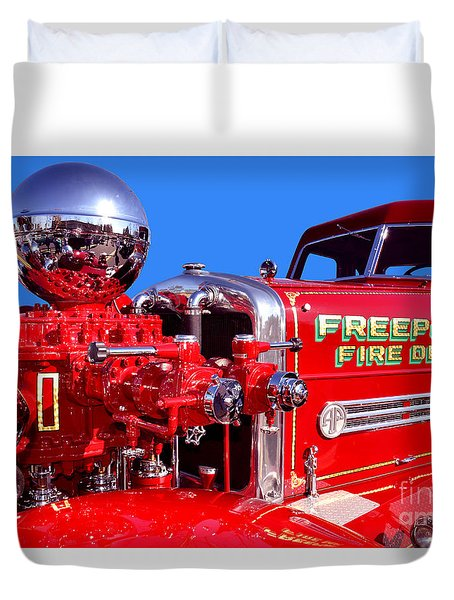 1949 Ahrens Fox Piston Pumper Fire Truck Duvet Cover
