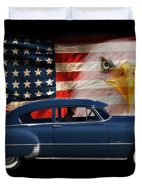 Duvet Cover featuring the photograph 1949 Pontiac Tribute Roger by Peter Piatt