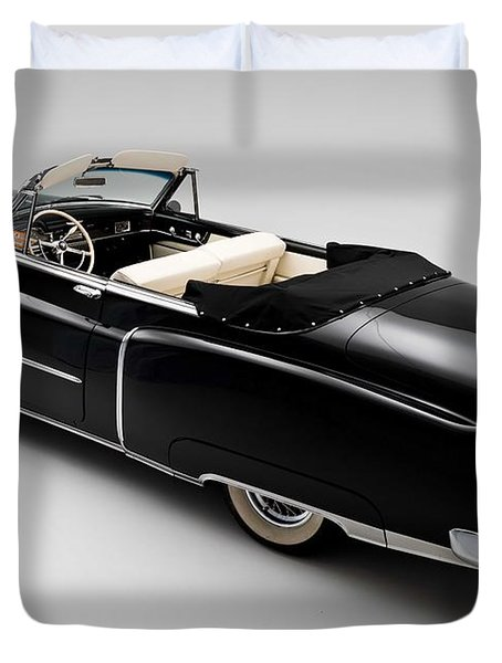 1950 Black Cadillac Convertible Duvet Cover by Gianfranco Weiss