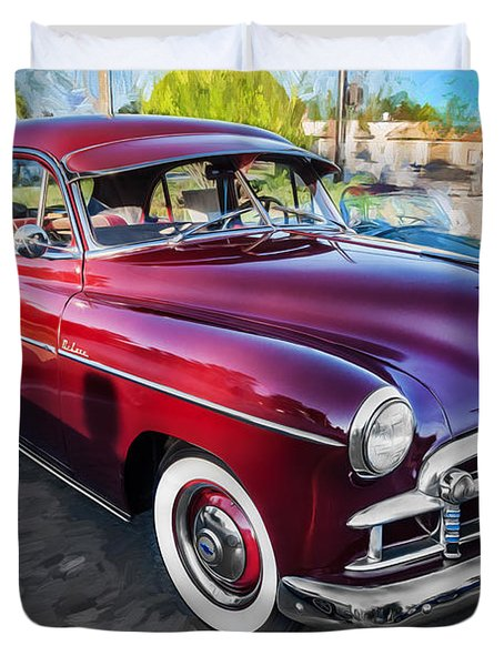 1950 Chevrolet Sedan Deluxe Painted  Duvet Cover