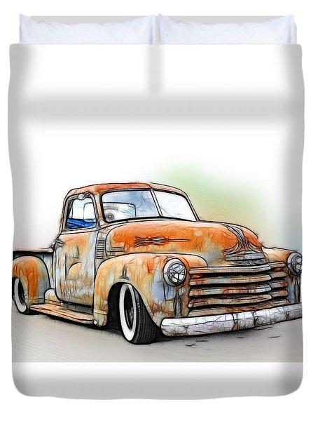 1950 Chevy Truck Duvet Cover